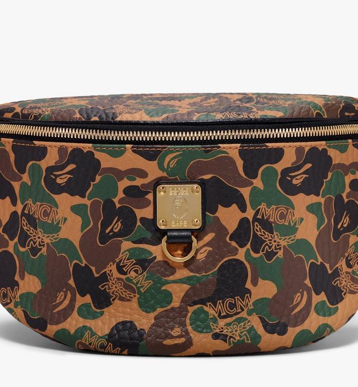 MCM MCM x BAPE Stark Belt Bag in Camo Visetos  MMZ9AMB01CW001 Alternate View 2