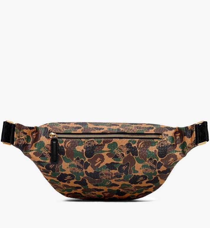 MCM MCM x BAPE Stark Belt Bag in Camo Visetos  MMZ9AMB01CW001 Alternate View 3