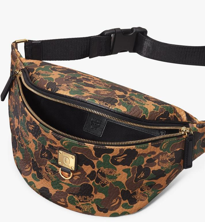 MCM MCM x BAPE Stark Belt Bag in Camo Visetos  MMZ9AMB01CW001 Alternate View 4