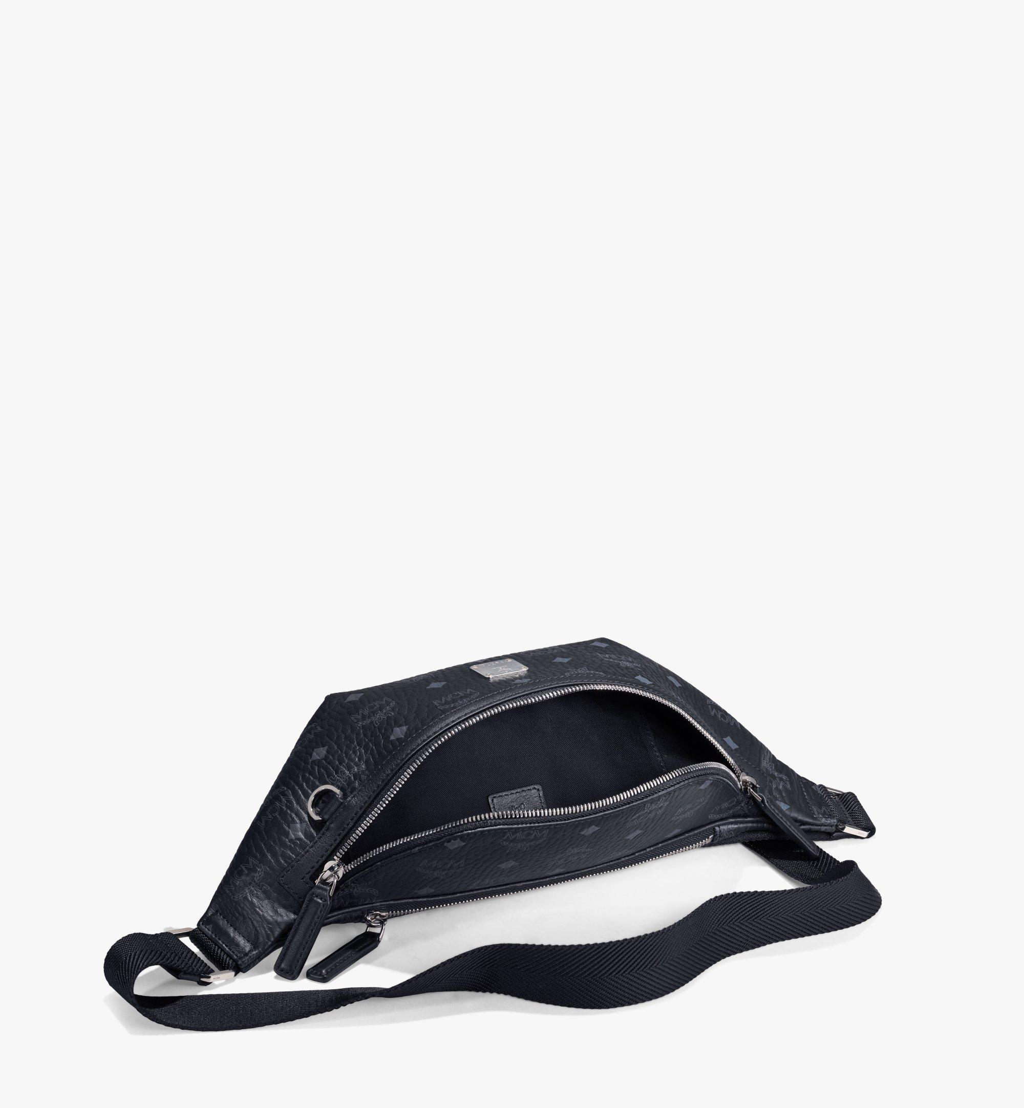 MCM Fursten Belt Bag in Visetos Black MMZAAFI01BK001 Alternate View 1