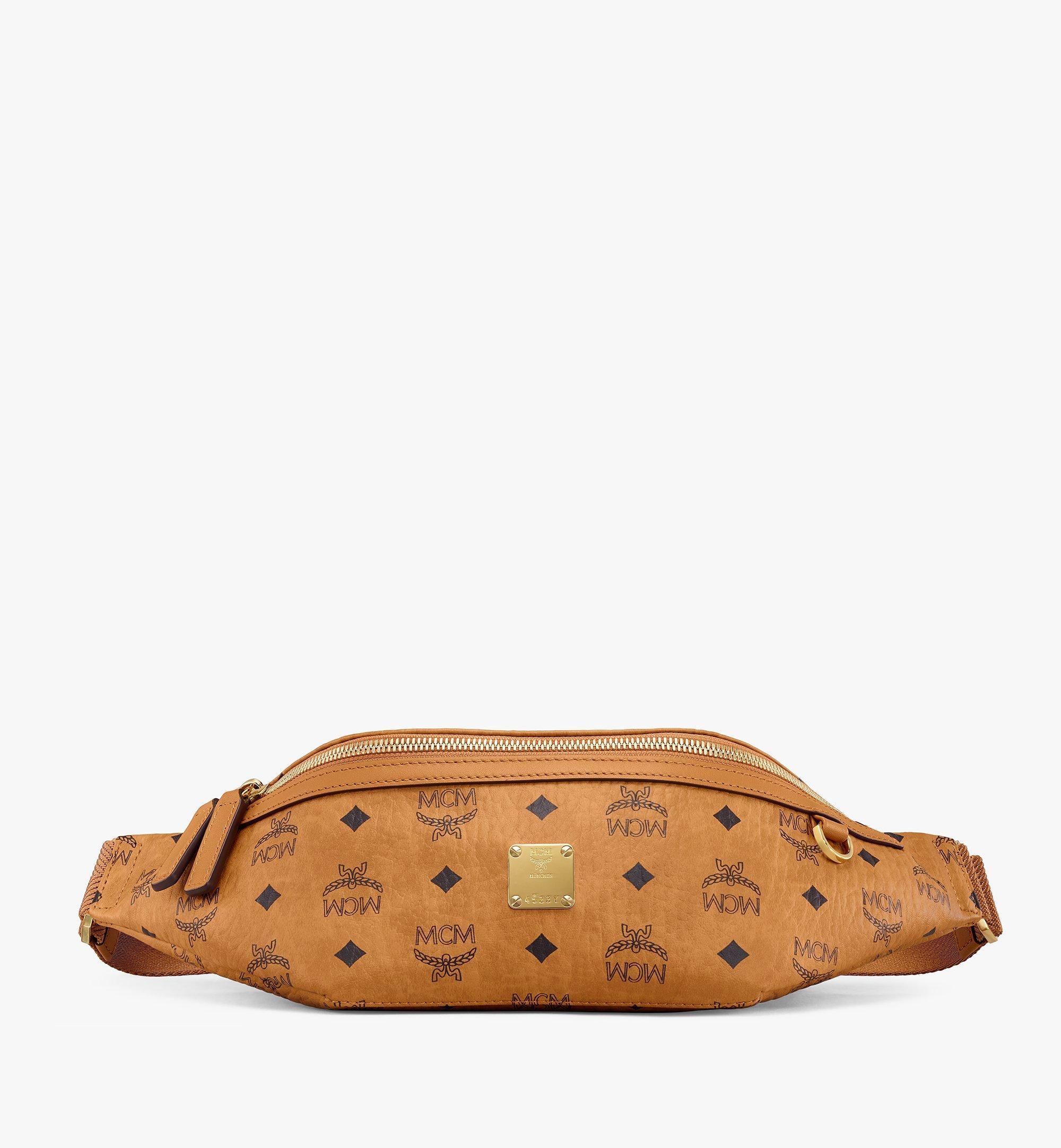 MCM Fursten Belt Bag in Visetos Cognac MMZAAFI01CO001 Alternate View 1