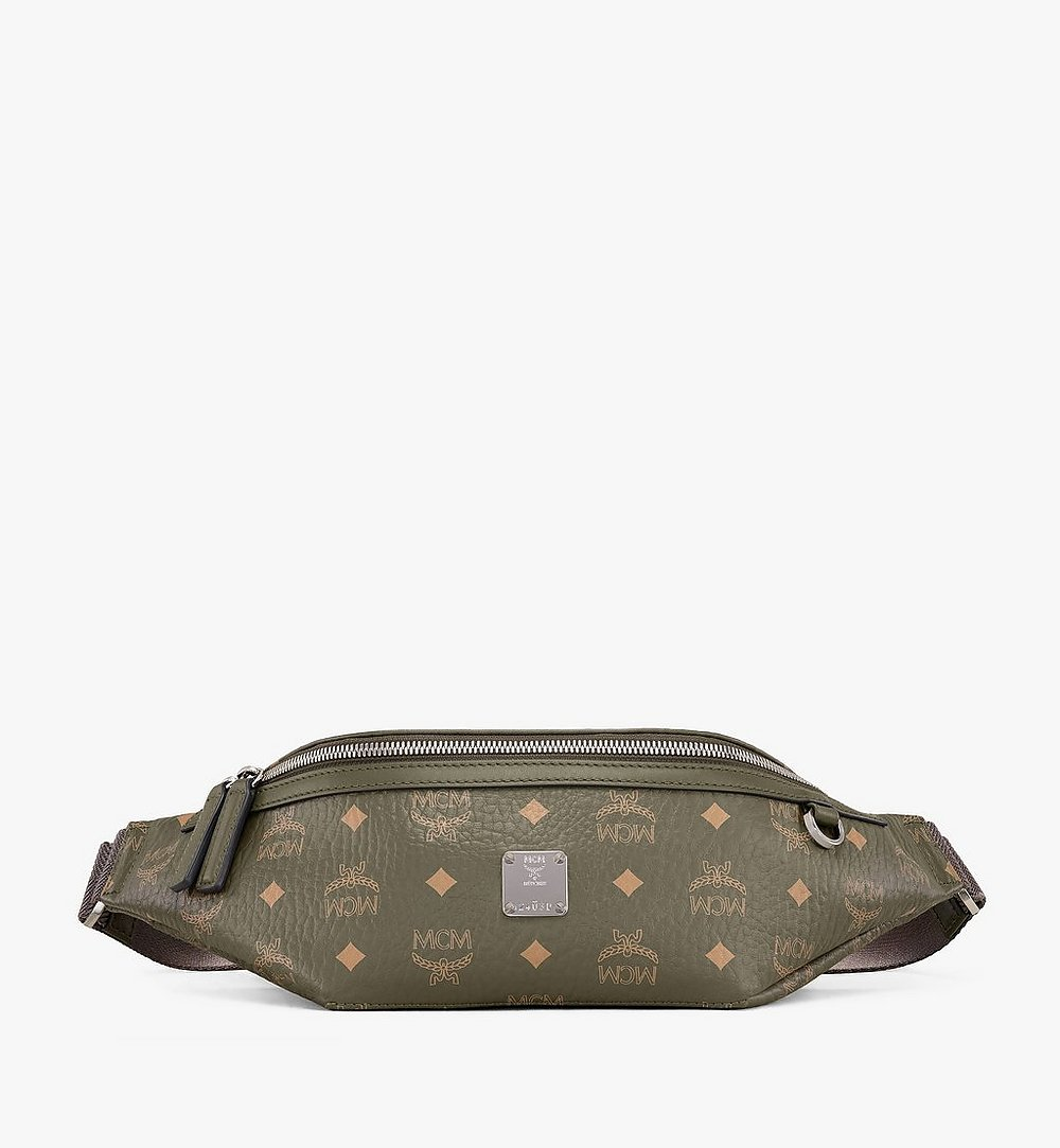 MCM Fursten Belt Bag in Visetos Green MMZAAFI01JH001 Alternate View 1
