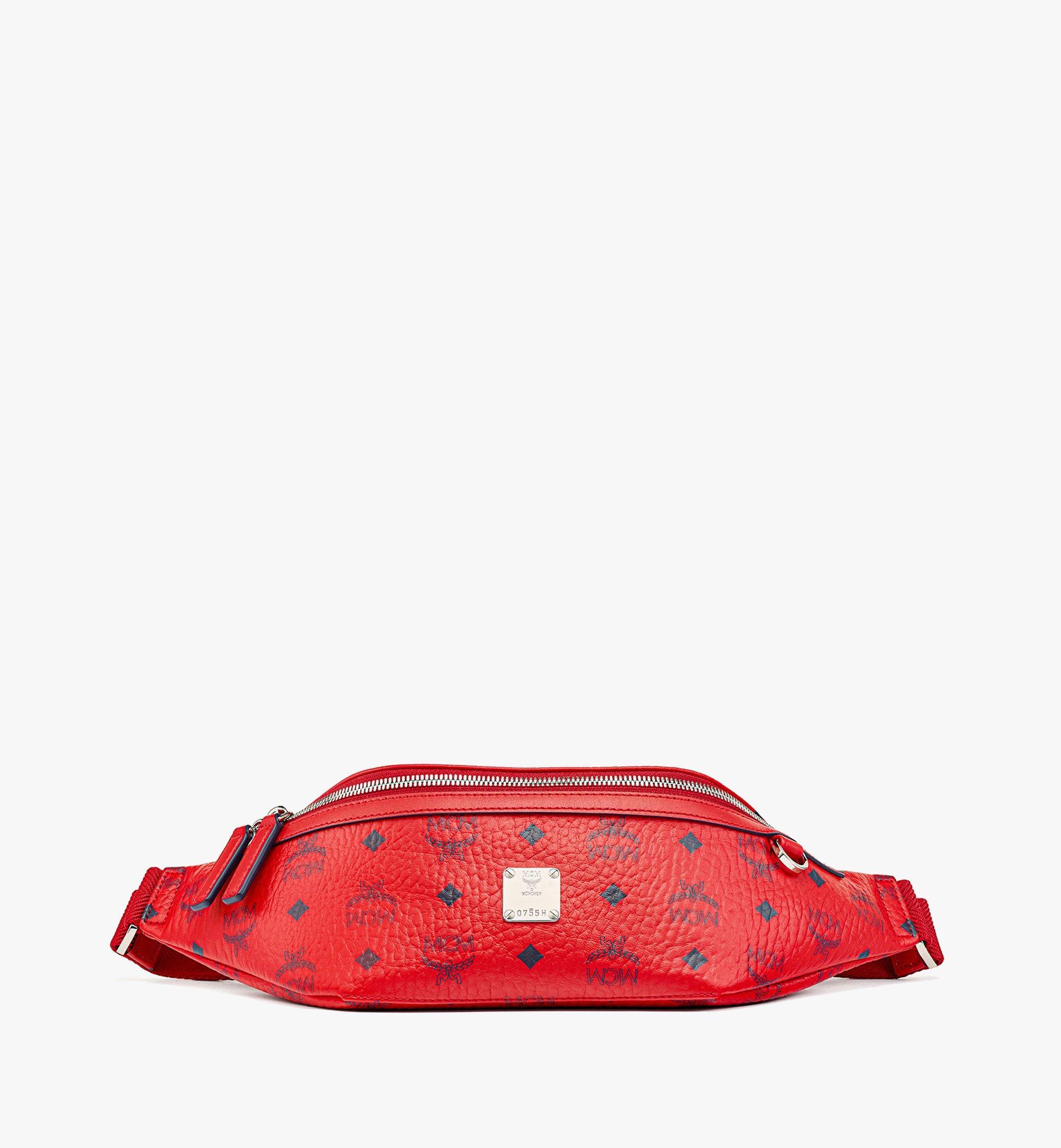 MCM Fursten Belt Bag in Visetos Red MMZAAFI01XC001 Alternate View 1