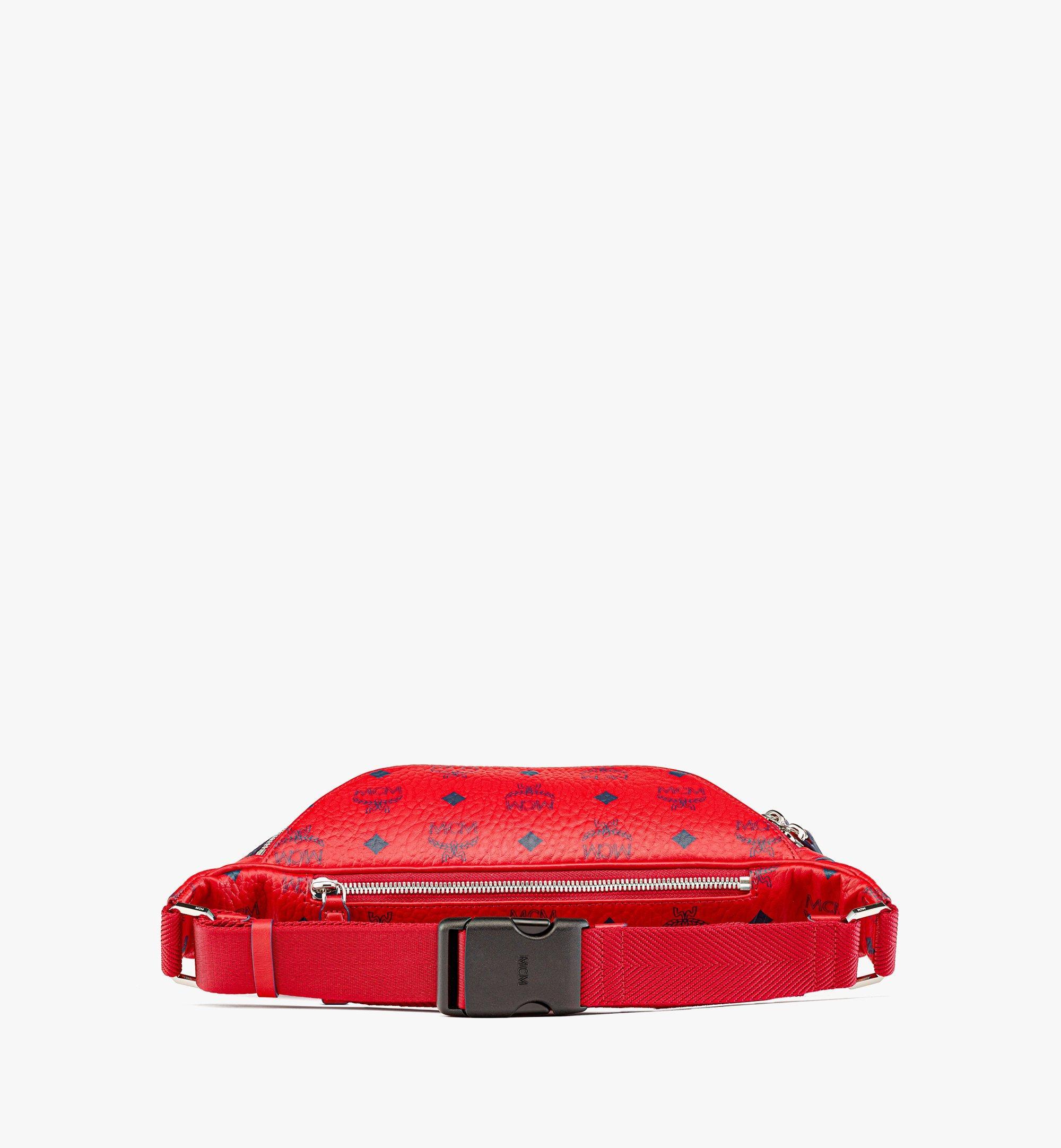MCM Fursten Belt Bag in Visetos Red MMZAAFI01XC001 Alternate View 2