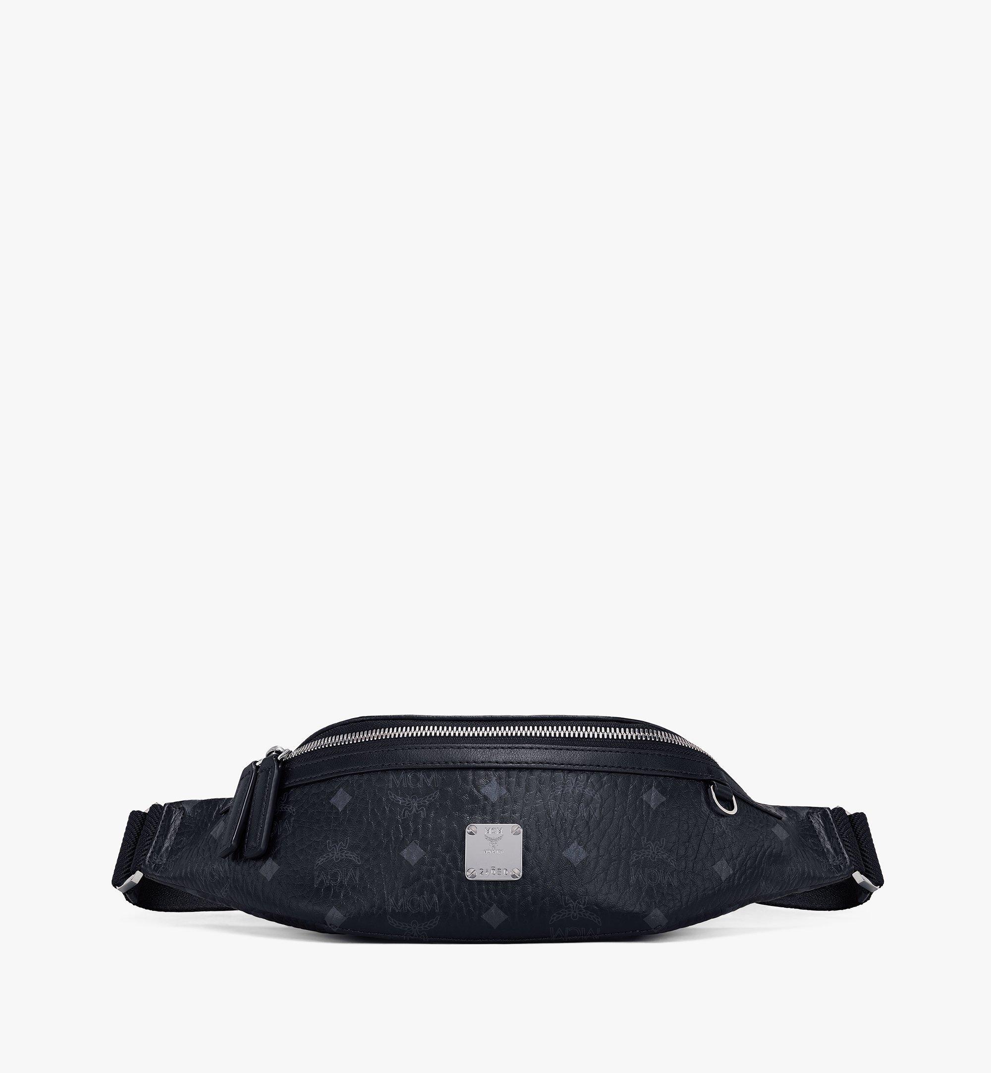 MCM Fursten Belt Bag in Visetos Black MMZAAFI04BK001 Alternate View 1
