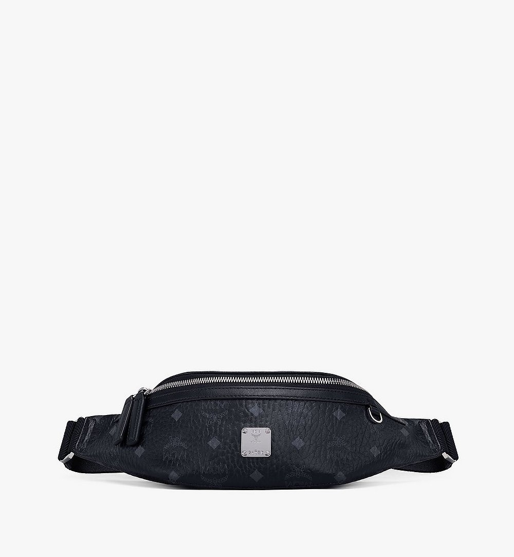 MCM Fursten Belt Bag in Visetos Black MMZAAFI04BK001 Alternate View 1