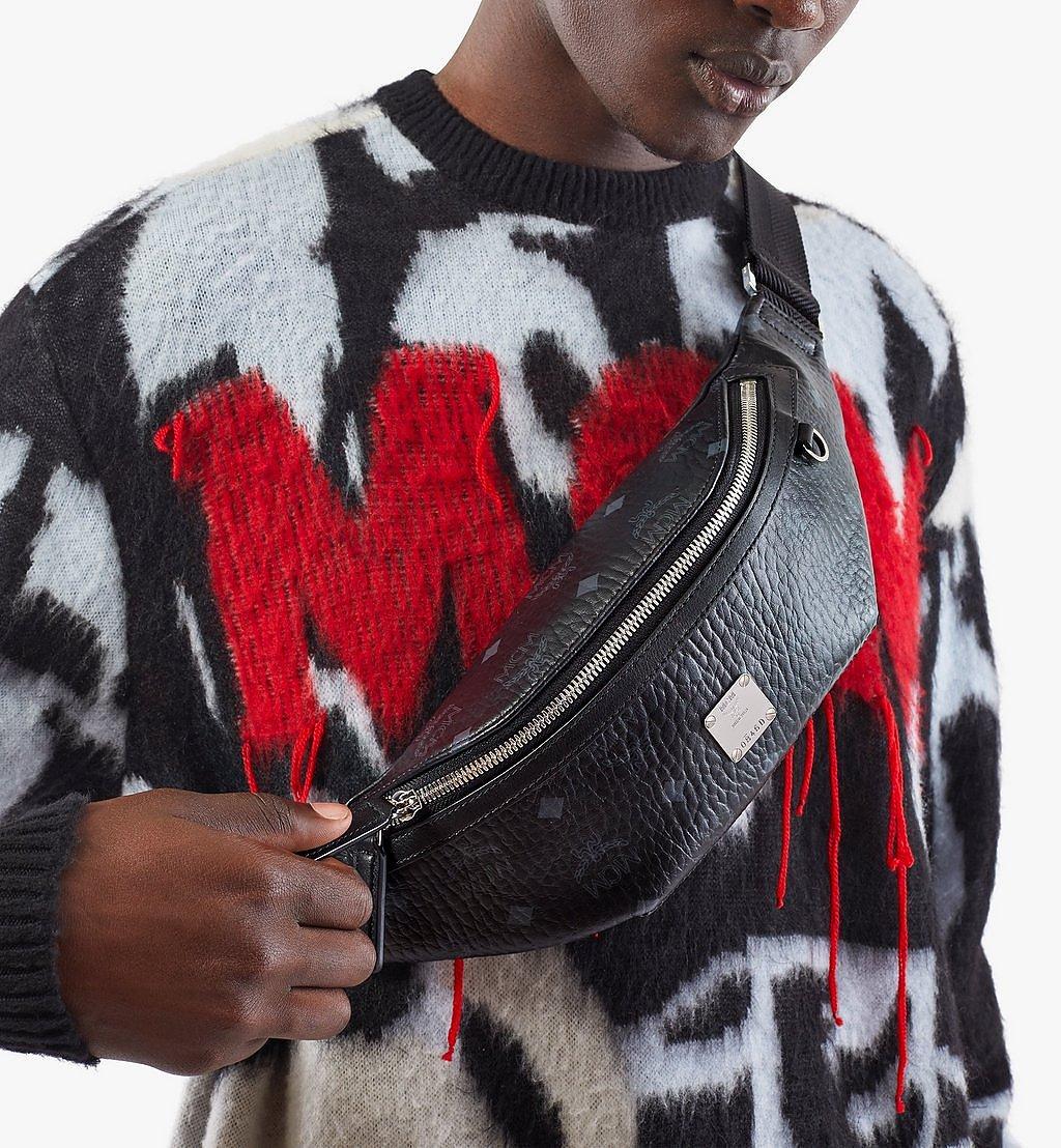 MCM Fursten Belt Bag in Visetos Black MMZAAFI04BK001 Alternate View 2
