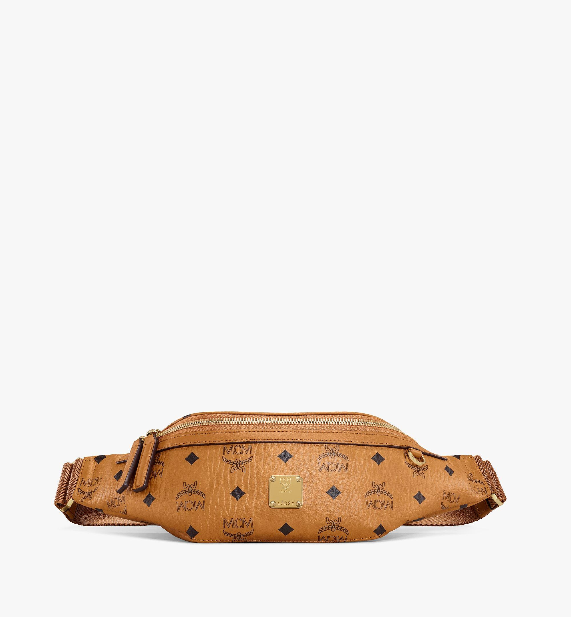 MCM Fursten Belt Bag in Visetos Cognac MMZAAFI04CO001 Alternate View 1