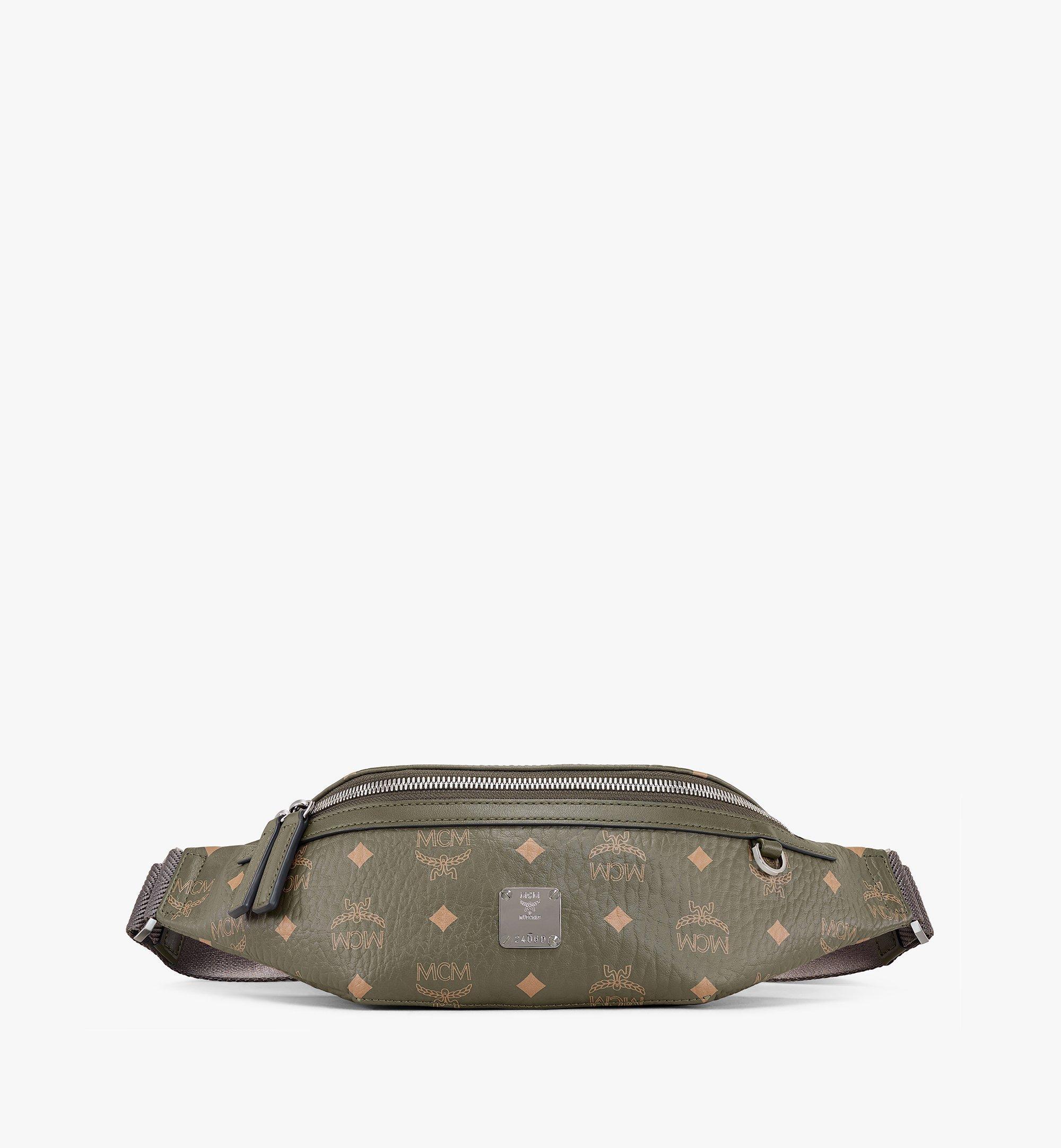 MCM Fursten Belt Bag in Visetos Green MMZAAFI04JH001 Alternate View 1
