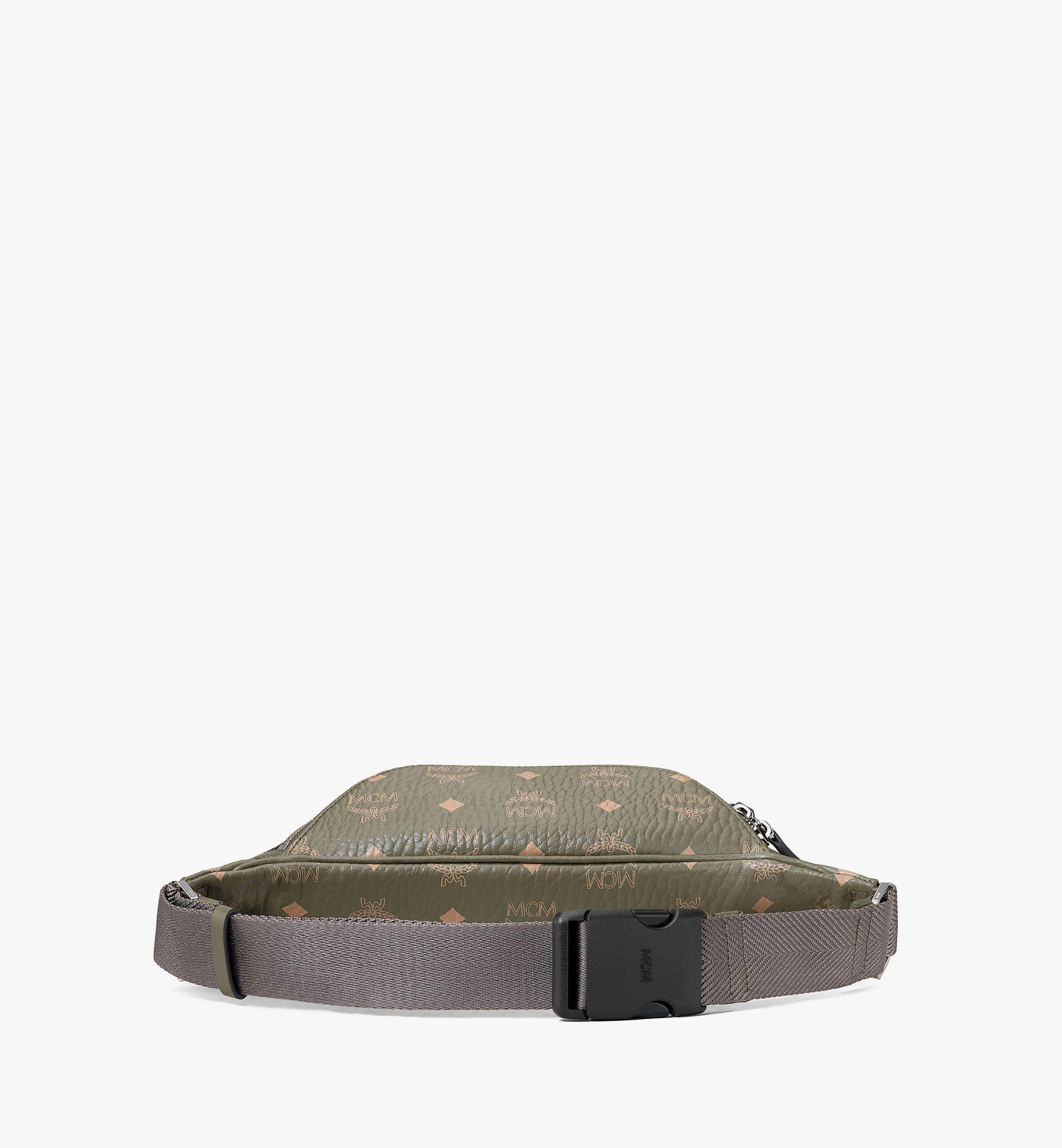 MCM Fursten Belt Bag in Visetos Green MMZAAFI04JH001 Alternate View 3