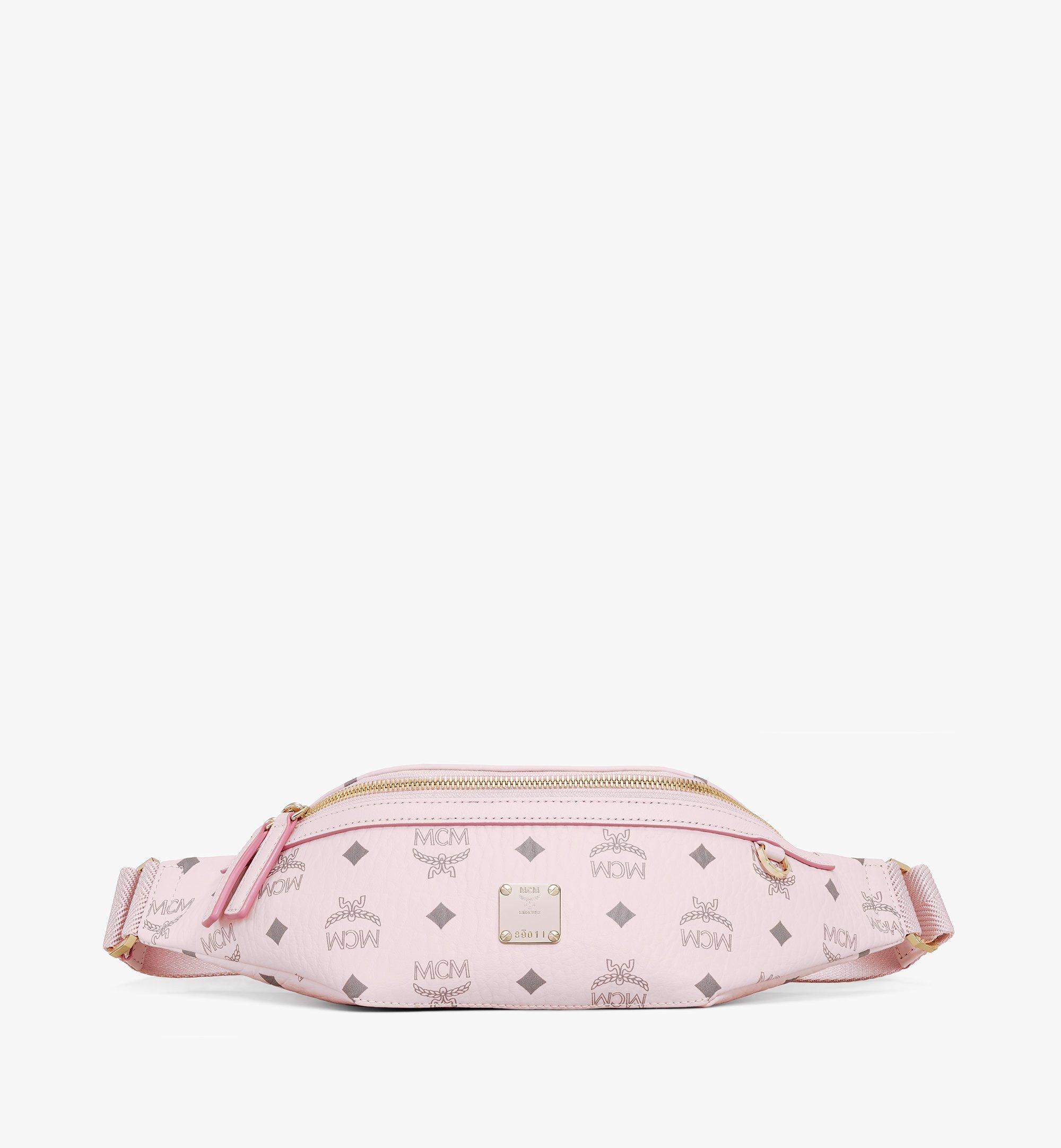 MCM Fursten Belt Bag in Visetos Pink MMZAAFI04QH001 Alternate View 1