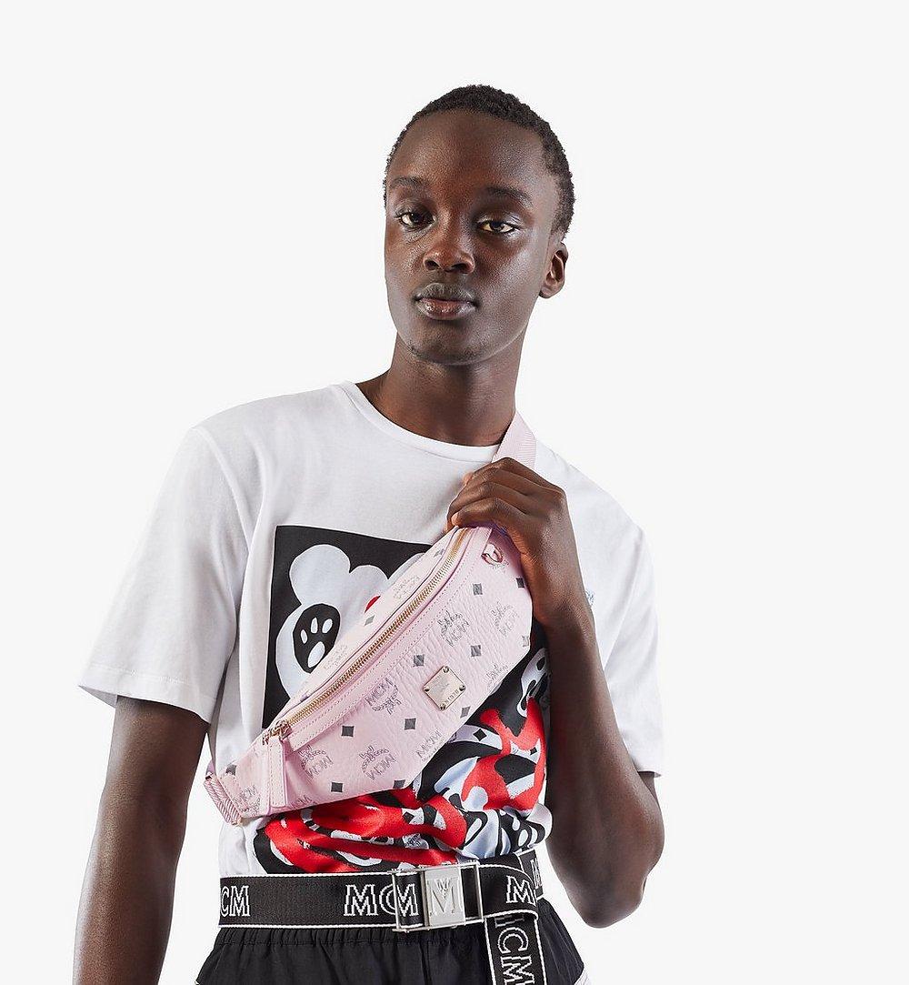 MCM Fursten Belt Bag in Visetos Pink MMZAAFI04QH001 Alternate View 2