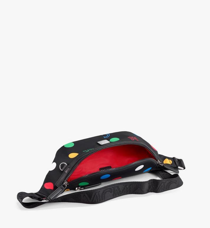 MCM Fursten Belt Bag in Polka Dot Nylon Black MMZAAFI05BK001 Alternate View 2