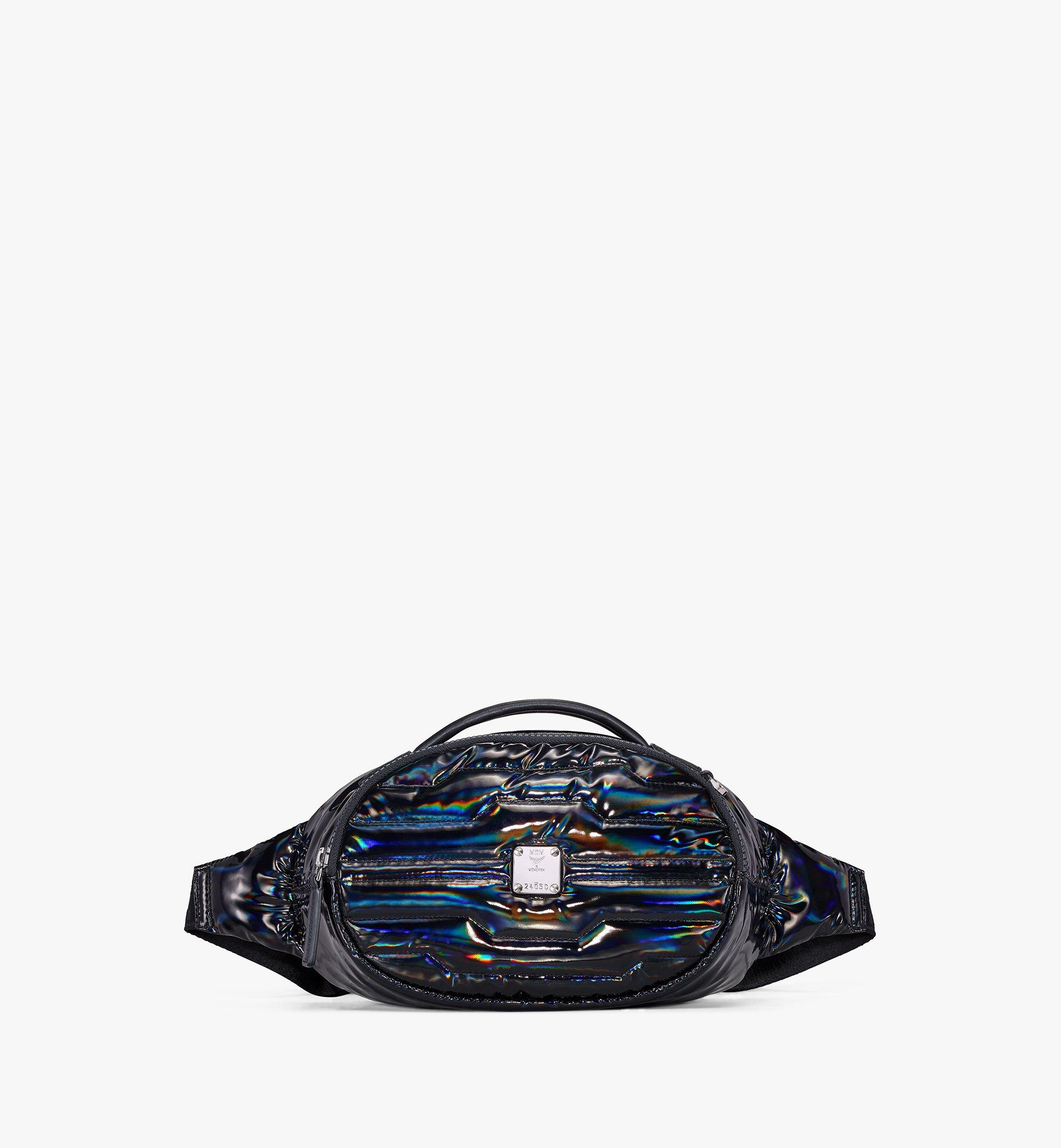 MCM Fursten Belt Bag in Tec-Quilt Fabric Black MMZAAFI06BK001 Alternate View 1