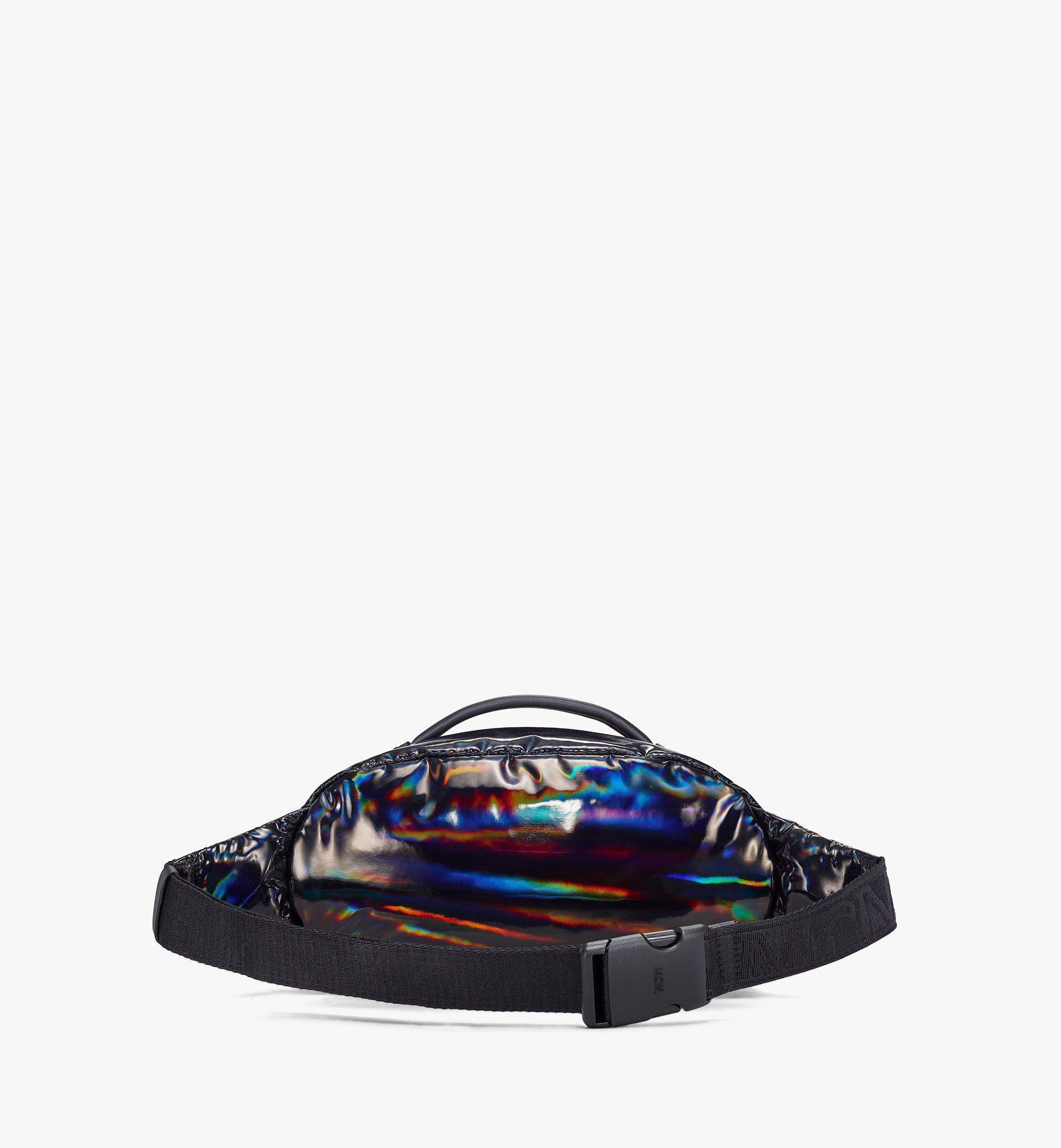 MCM Fursten Belt Bag in Tec-Quilt Fabric Black MMZAAFI06BK001 Alternate View 3