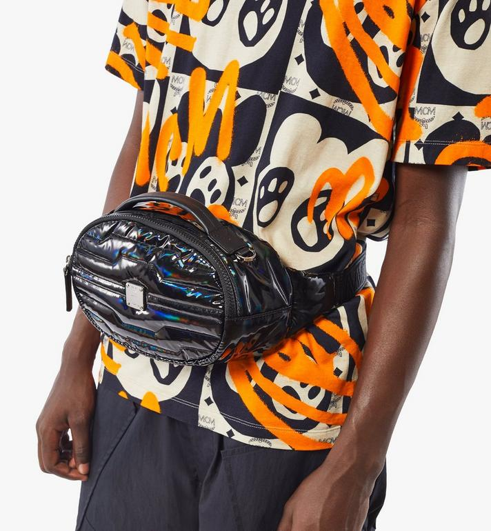 MCM Fursten Belt Bag in Tec-Quilt Fabric Black MMZAAFI06BK001 Alternate View 6