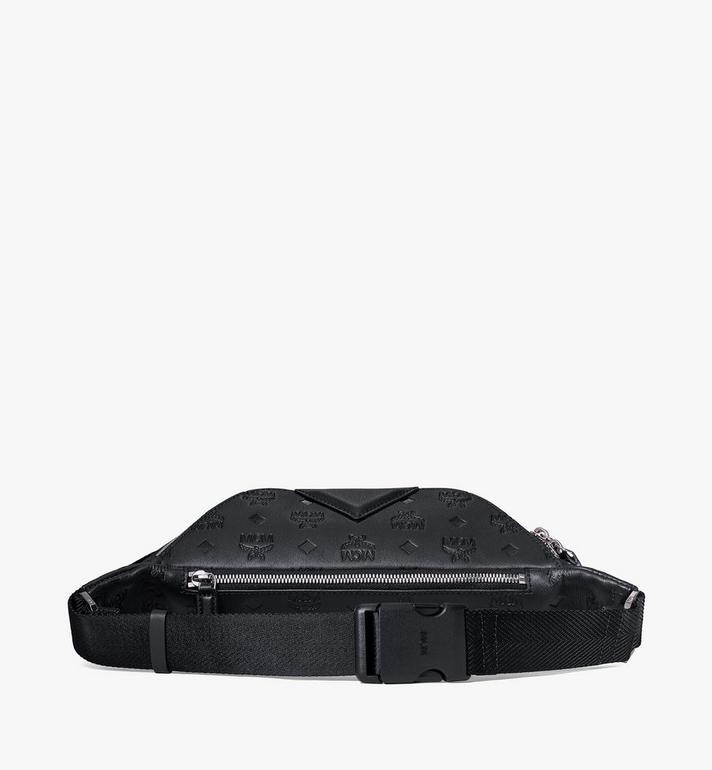 MCM Fursten Belt Bag in Monogram Leather Black MMZAAFI07BK001 Alternate View 3
