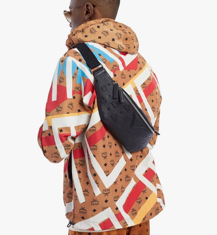 MCM Fursten Belt Bag in Monogram Leather Black MMZAAFI07BK001 Alternate View 5