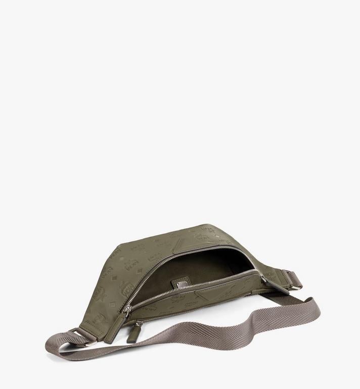 MCM Fursten Belt Bag in Monogram Leather Green MMZAAFI07JH001 Alternate View 2
