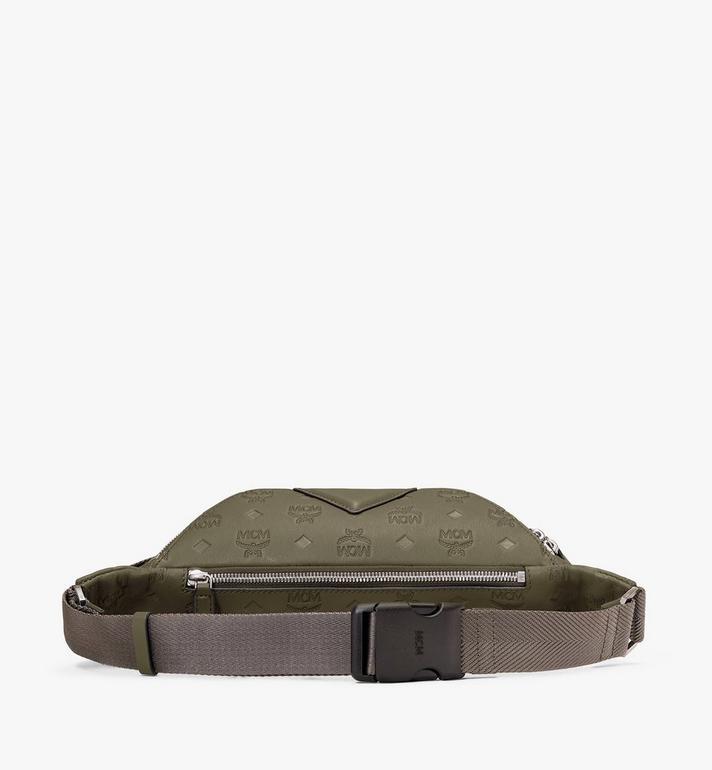MCM Fursten Belt Bag in Monogram Leather Green MMZAAFI07JH001 Alternate View 3