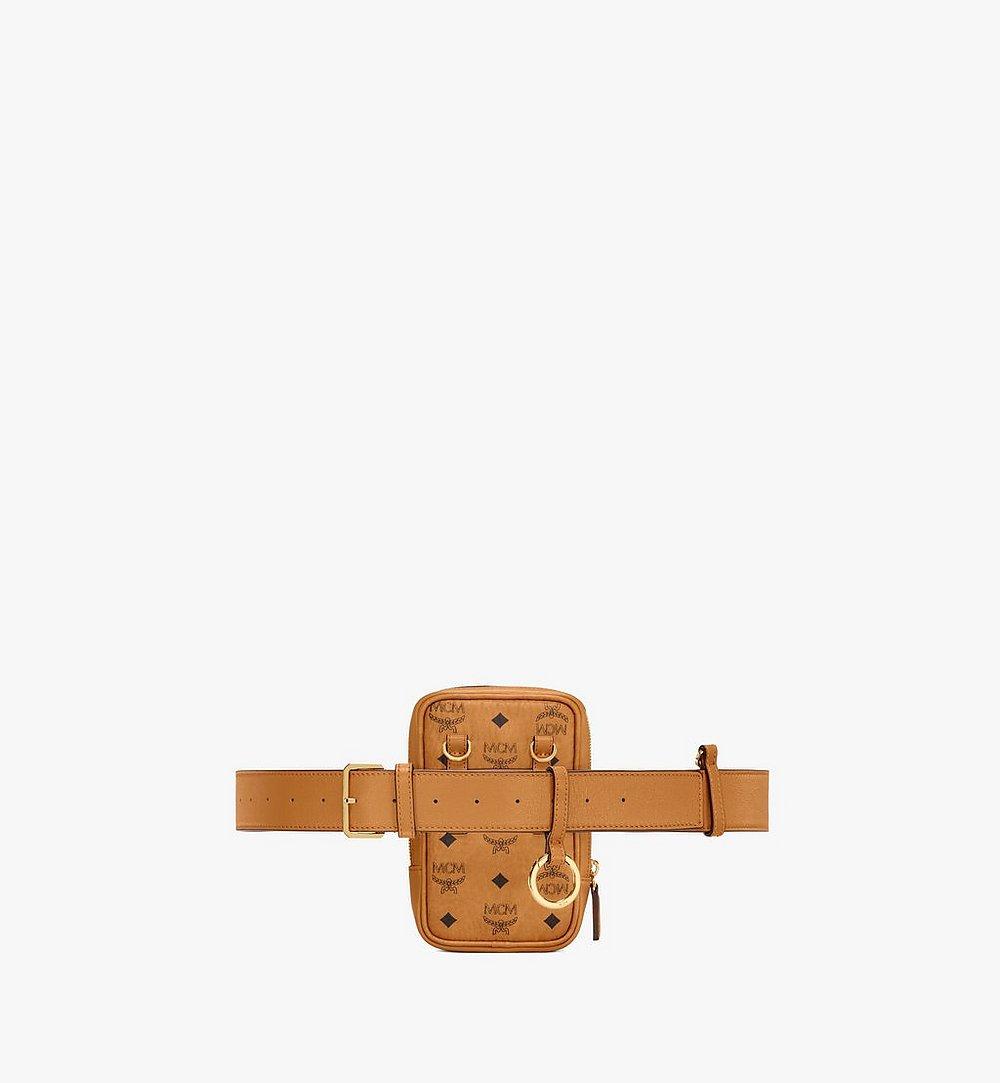 MCM N/S Klassik Belt Bag in Visetos Cognac MMZAAKC01CO001 Alternate View 3