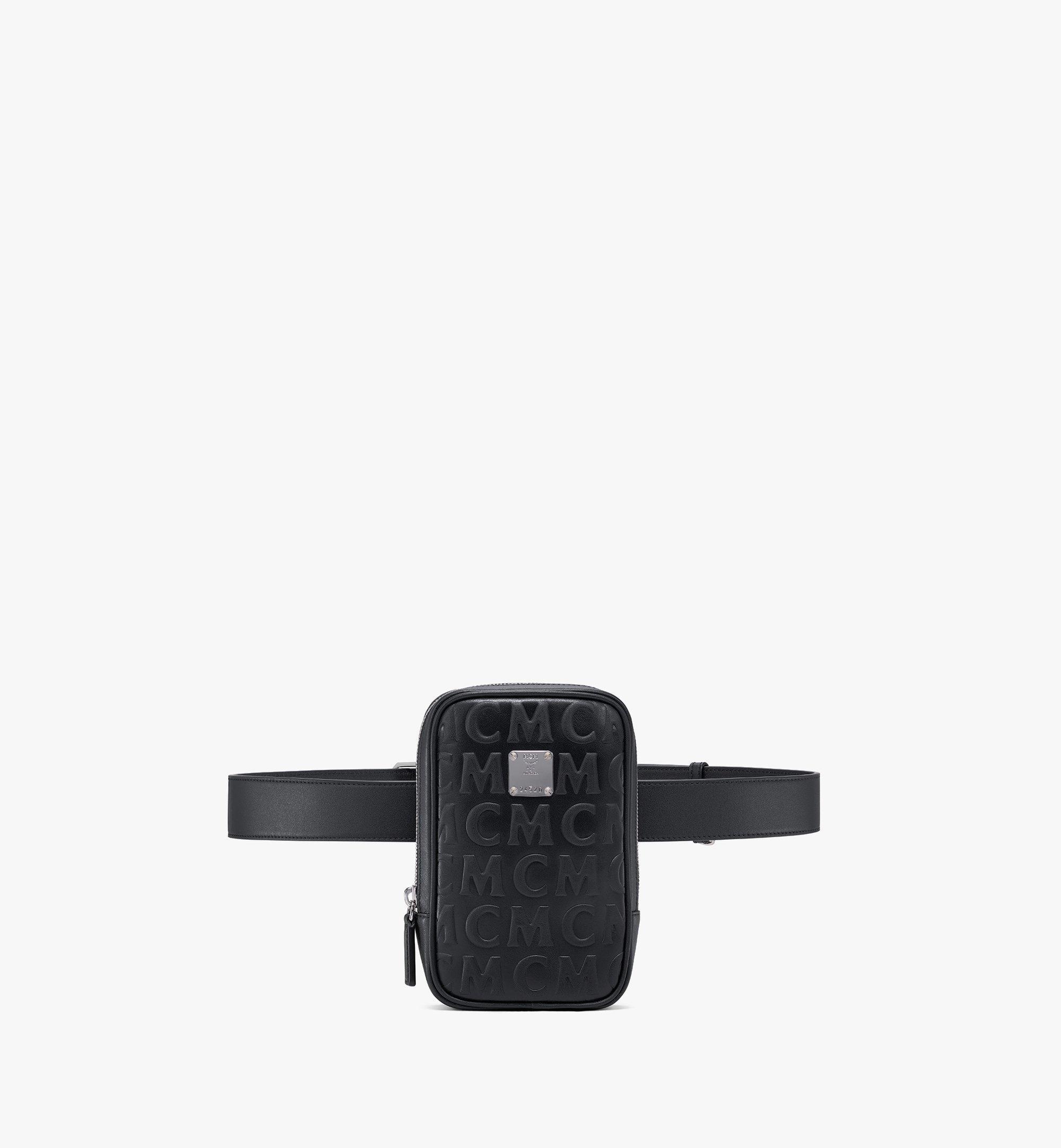 MCM N/S Klassik Belt Bag in MCM Monogram Leather White MMZAAKC05BK001 Alternate View 1