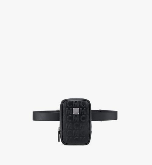 Pochette de ceinture verticale Klassik en cuir monogrammé MCM