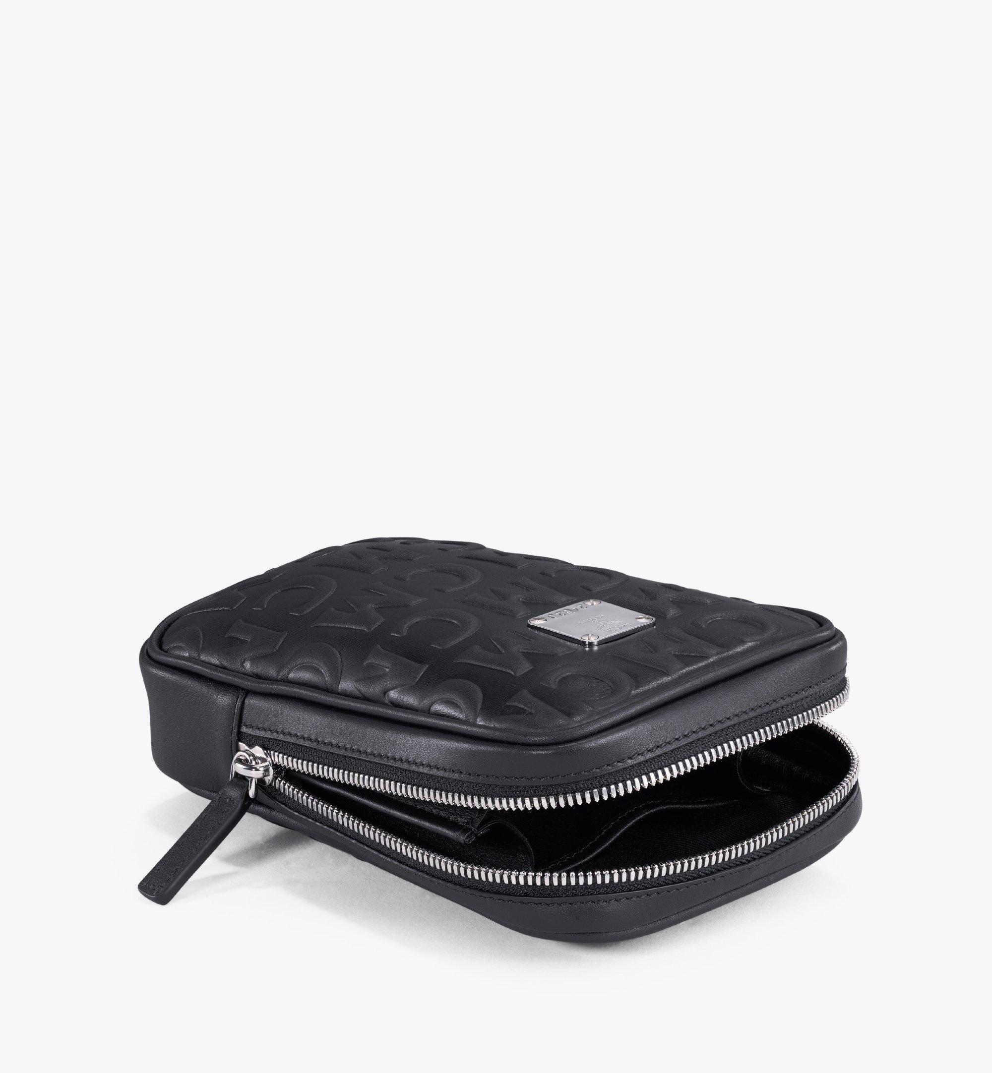 MCM N/S Klassik Belt Bag in MCM Monogram Leather White MMZAAKC05BK001 Alternate View 2