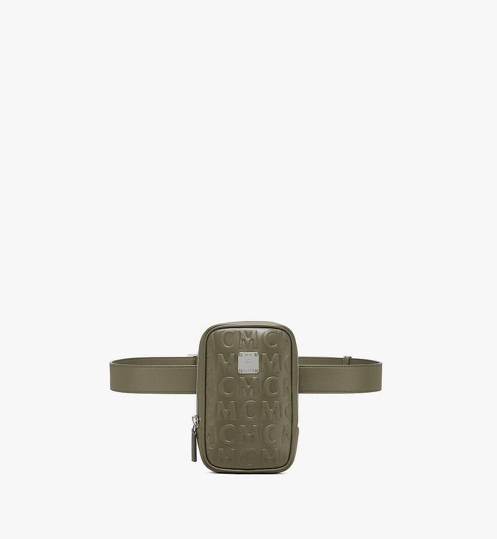 MCM N/S Klassik Belt Bag in MCM Monogram Leather Green MMZAAKC05JH001 Alternate View 1