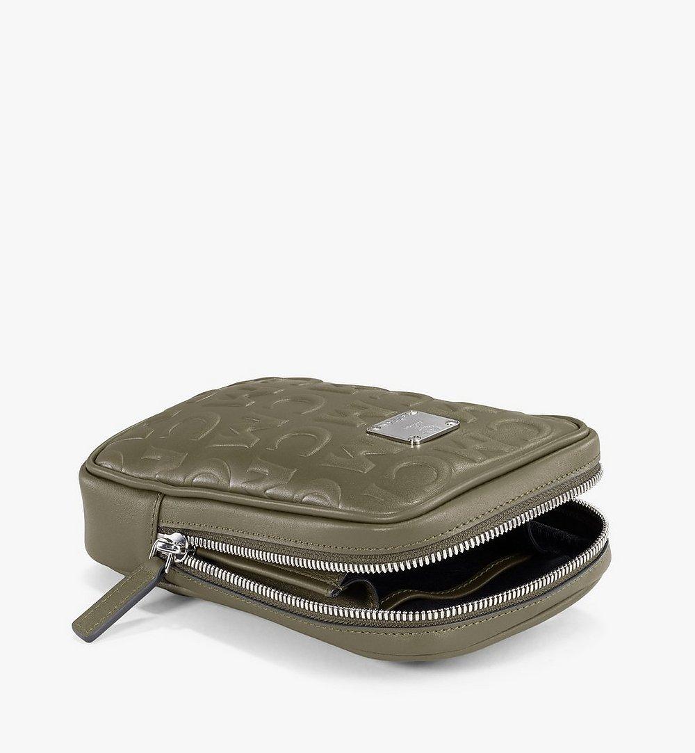MCM N/S Klassik Belt Bag in MCM Monogram Leather Green MMZAAKC05JH001 Alternate View 2