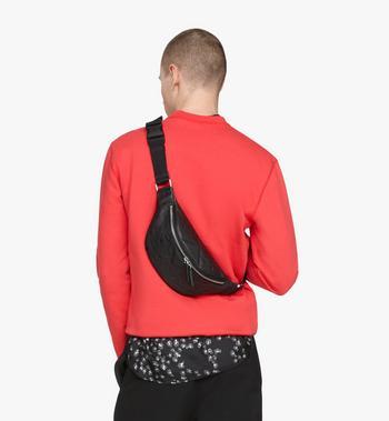 MCM Fursten Belt Bag in Monogram Leather Black MMZASFI01BK001 Alternate View 4