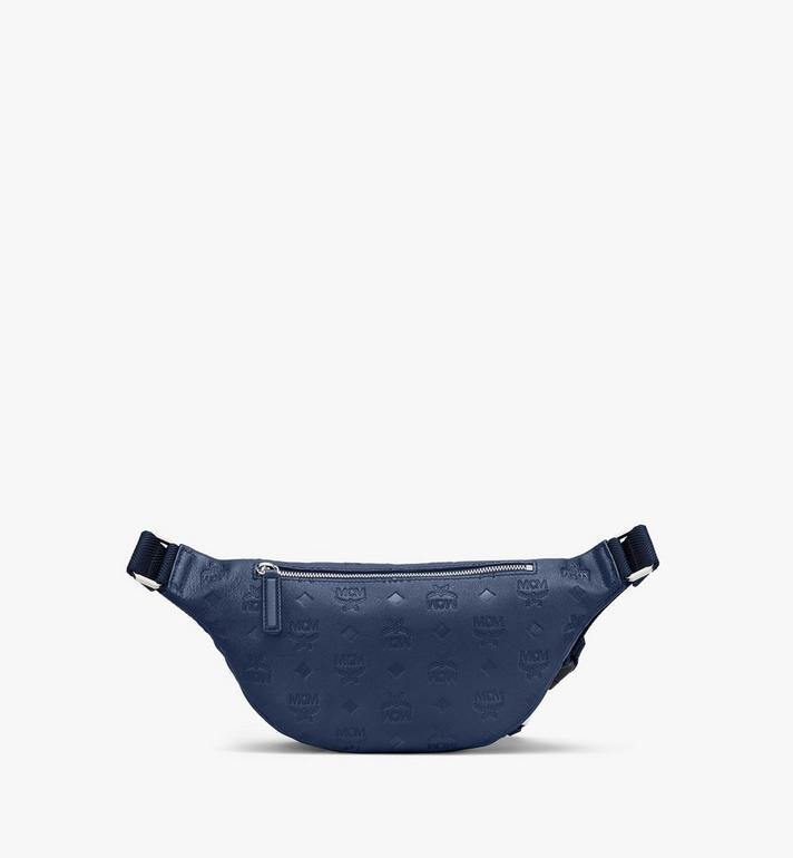 MCM Fursten Belt Bag in Monogram Leather Blue MMZASFI01VA001 Alternate View 2