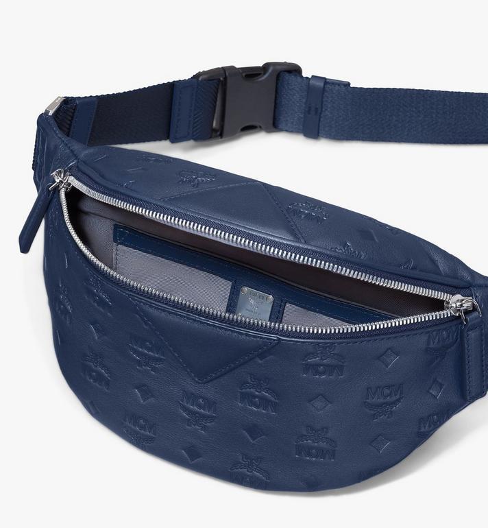 MCM Fursten Belt Bag in Monogram Leather Blue MMZASFI01VA001 Alternate View 3
