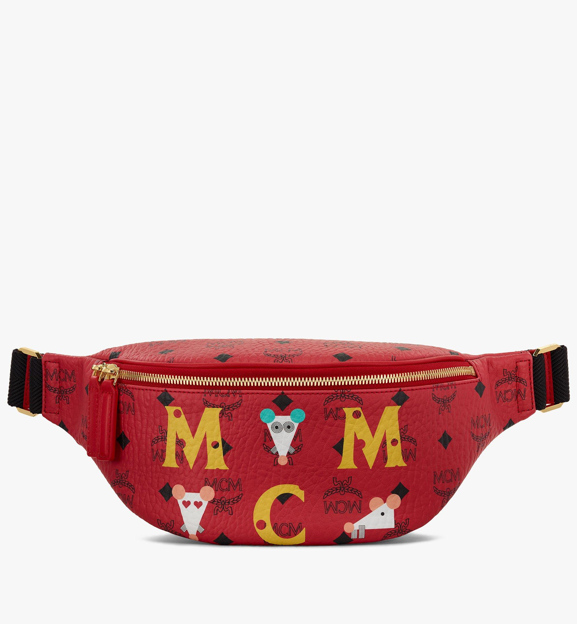 MCM Year Of The Mouse 프루스튼 비세토스 벨트백 Red MMZASFI02RJ001 Alternate View 1