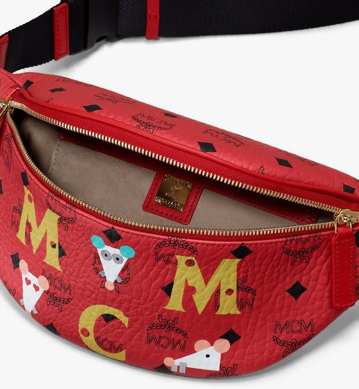 MCM Year Of The Mouse 프루스튼 비세토스 벨트백 Red MMZASFI02RJ001 Alternate View 3