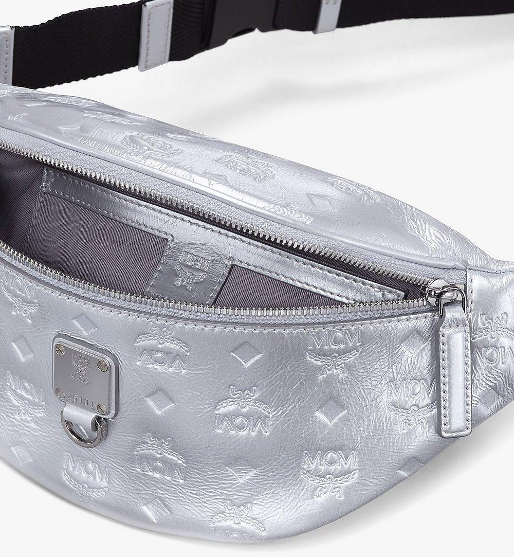 MCM Fursten Belt Bag in Monogram Leather Silver MMZASFI03SE001 Alternate View 2
