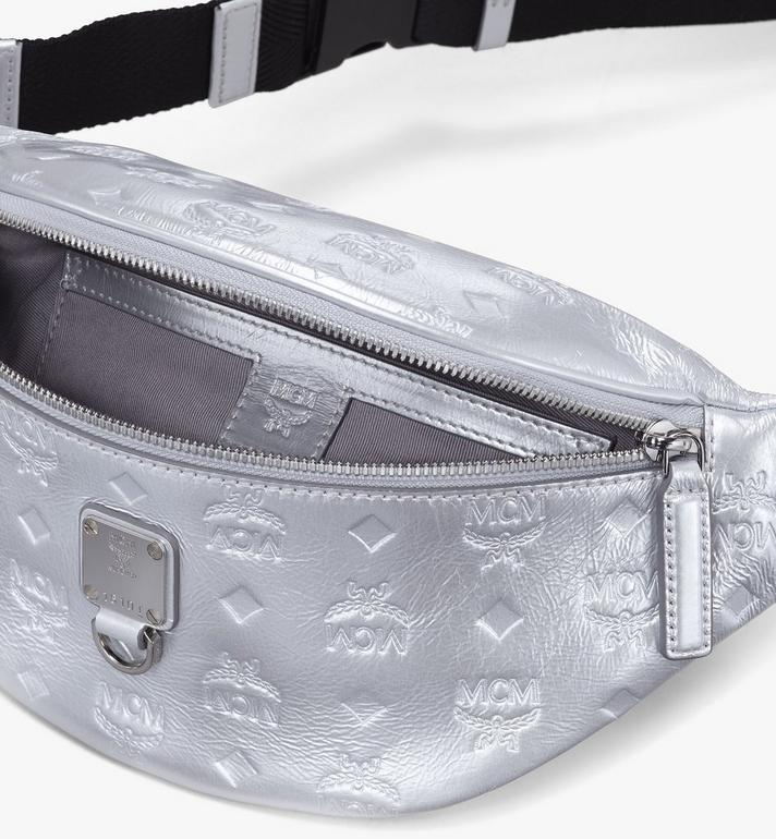 MCM Fursten Belt Bag in Monogram Leather Silver MMZASFI03SE001 Alternate View 3