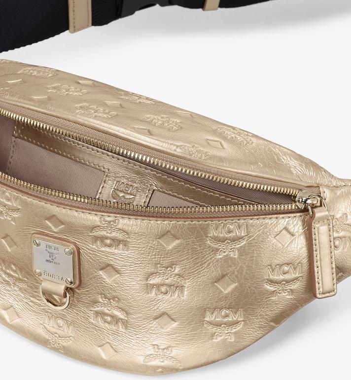 MCM Fursten Belt Bag in Monogram Leather Gold MMZASFI03T1001 Alternate View 3