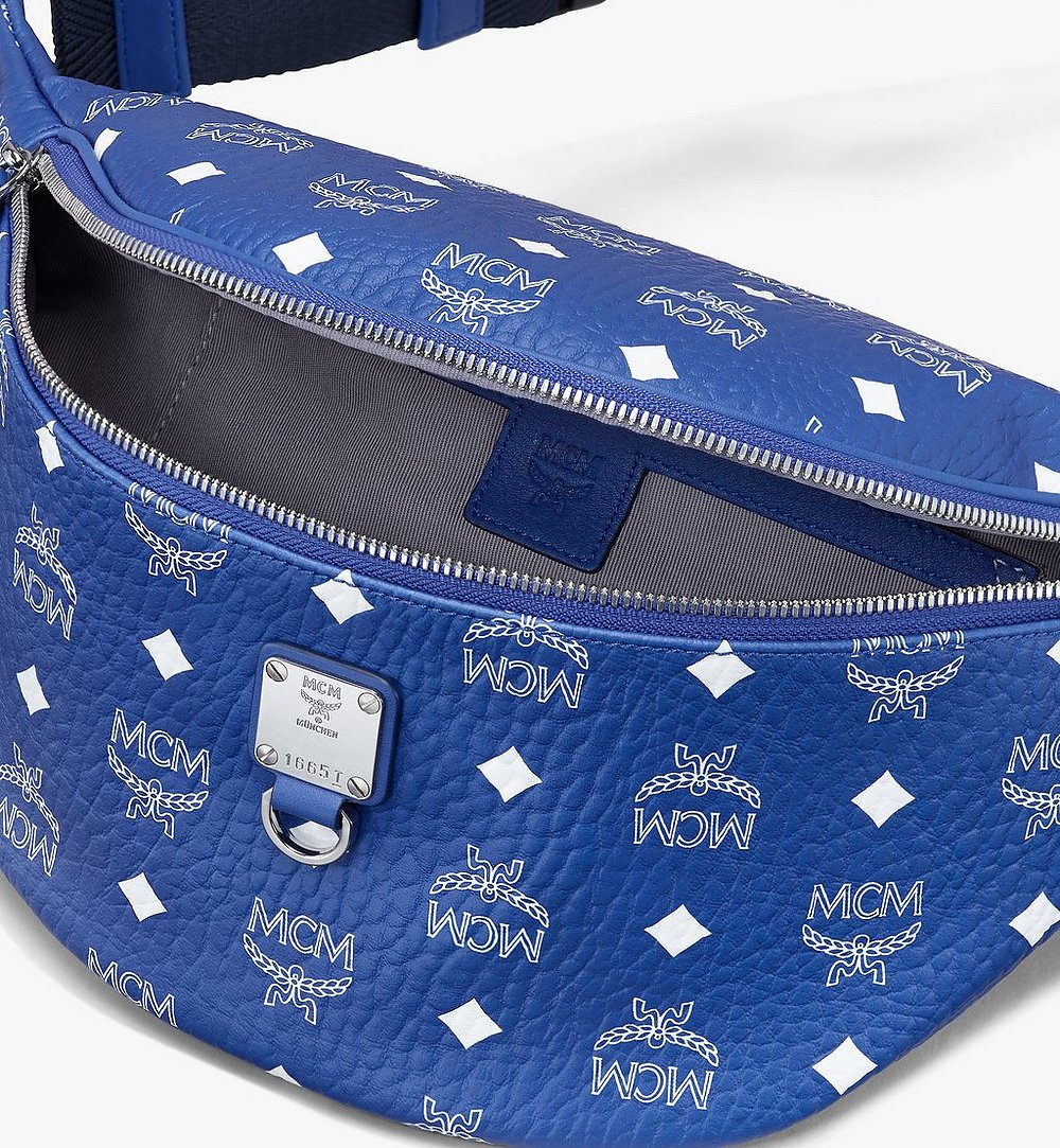 MCM Fursten Belt Bag in Visetos Blue MMZASFI04H1001 Alternate View 2