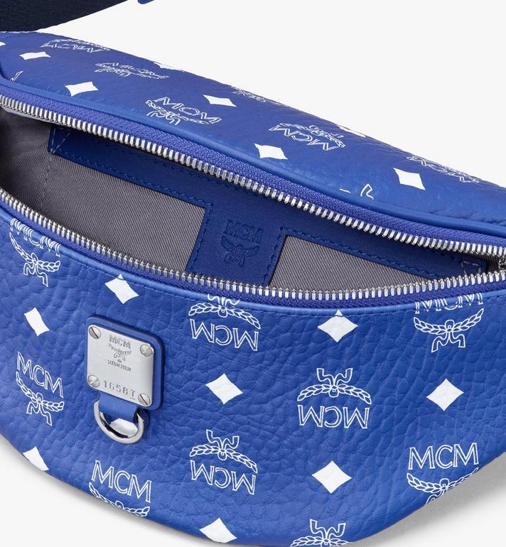 MCM Fursten Belt Bag in Visetos Blue MMZASFI05H1001 Alternate View 3