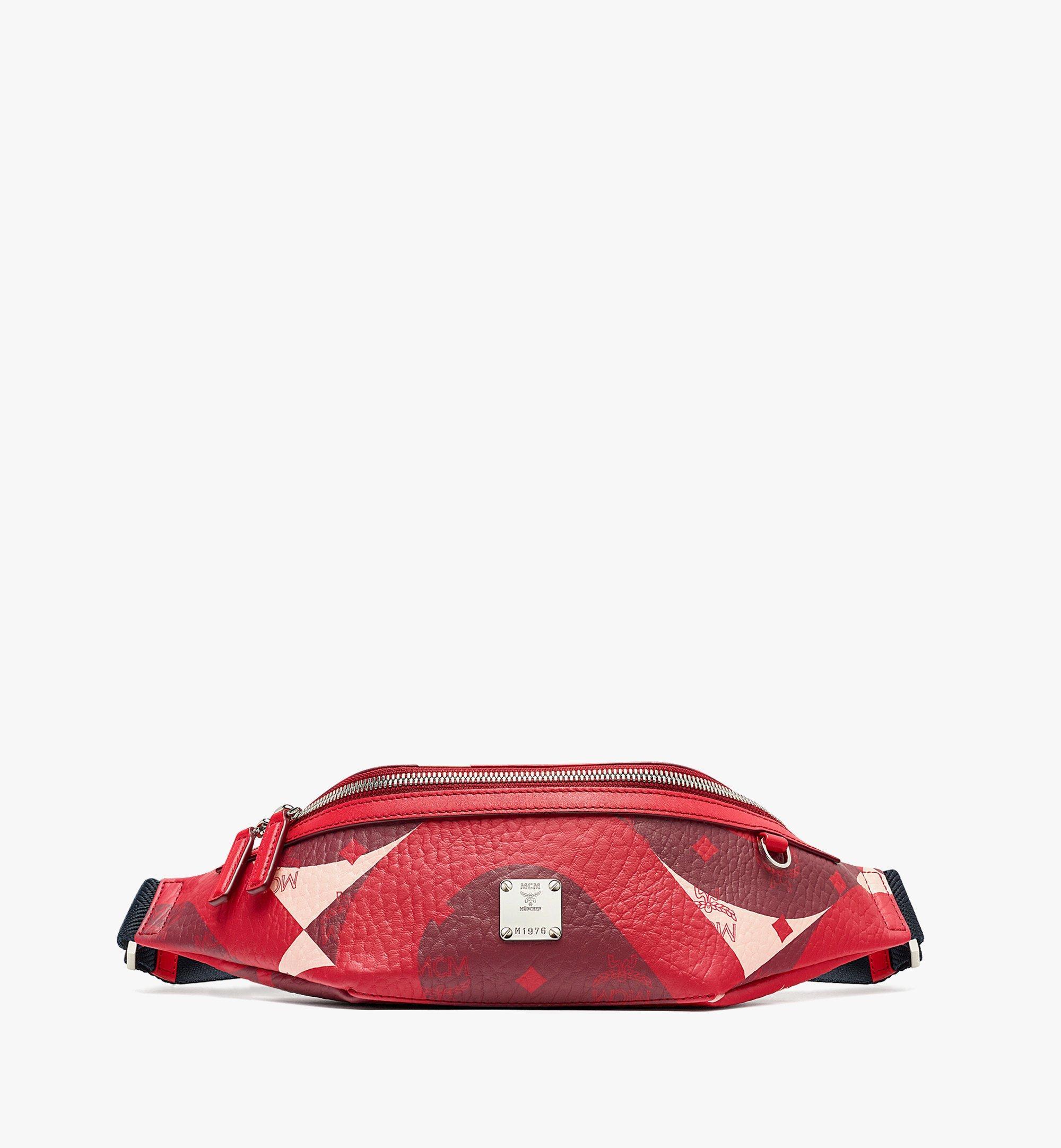 MCM Fursten Belt Bag in Wave Visetos Red MMZBASX01R0001 Alternate View 1