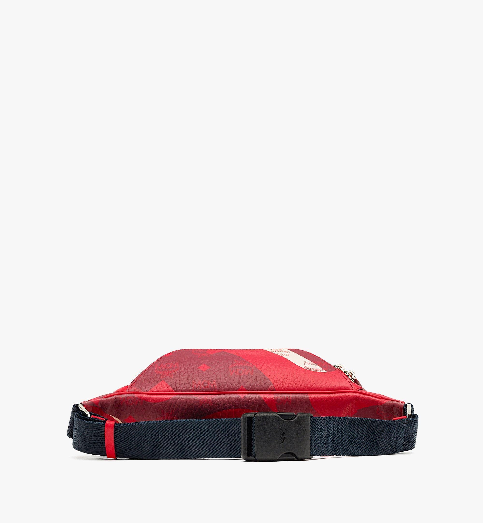 MCM Fursten Belt Bag in Wave Visetos Red MMZBASX01R0001 Alternate View 2