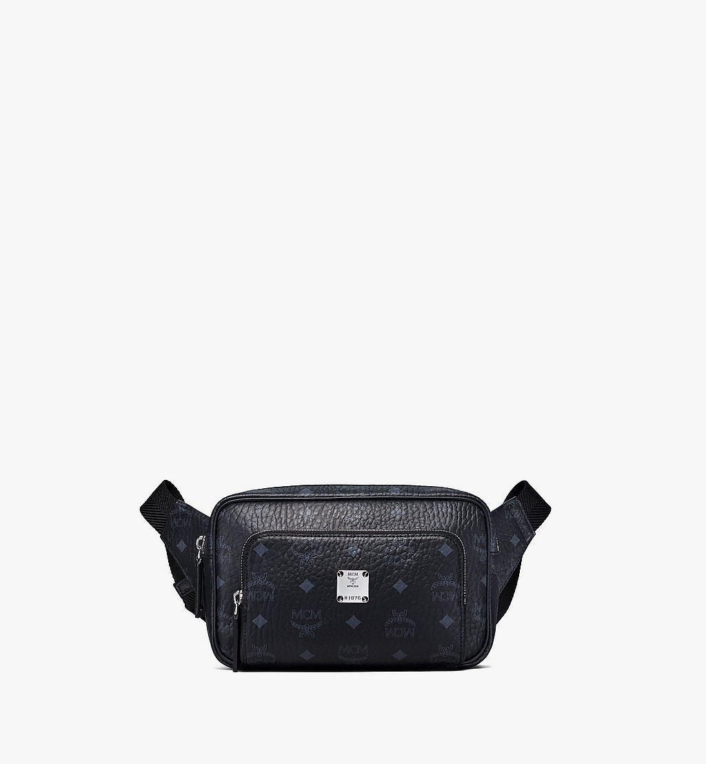 MCM Fursten Belt Bag in Visetos Black MMZBSFI03BK001 Alternate View 1