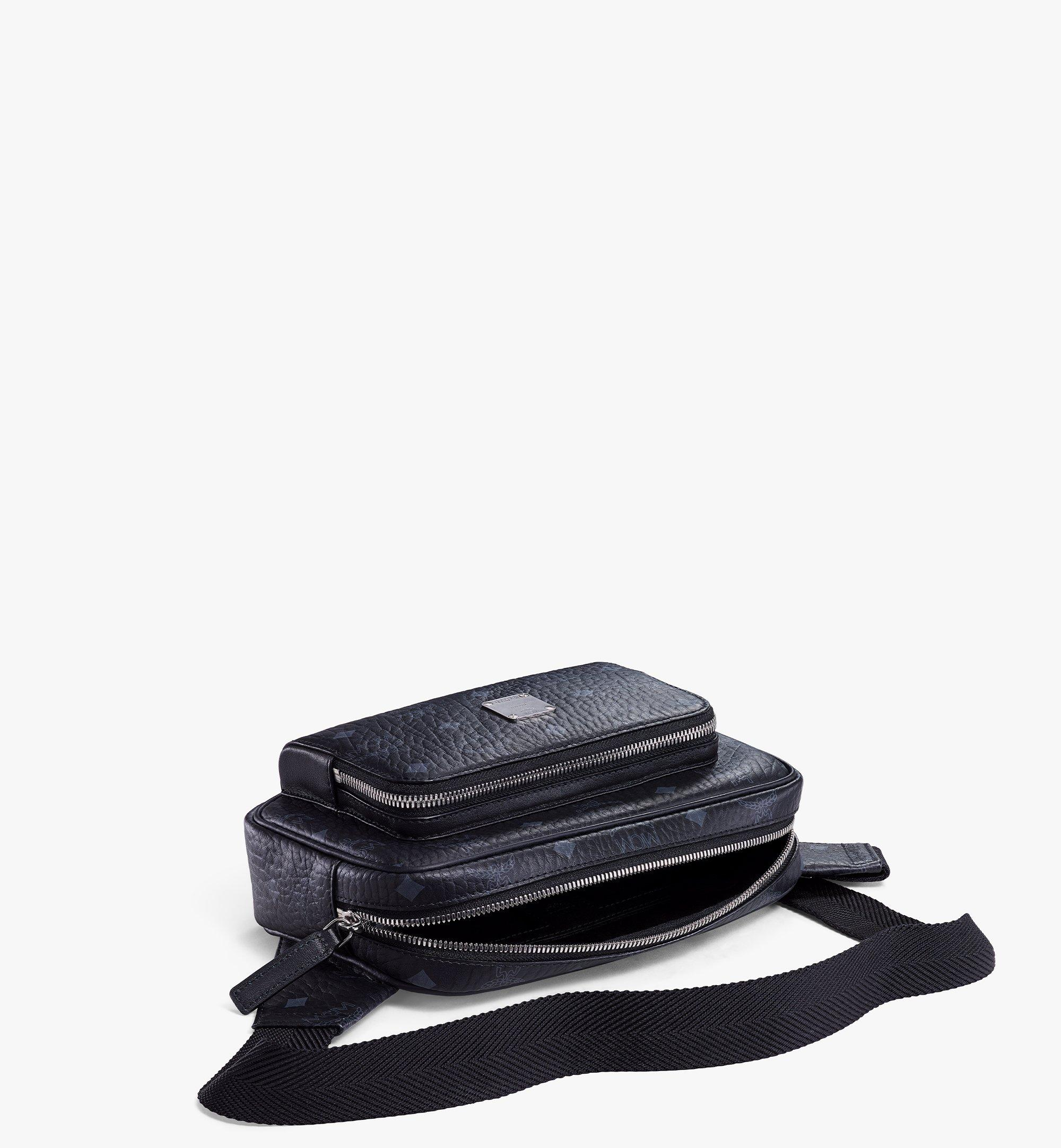 MCM Fursten Belt Bag in Visetos Black MMZBSFI03BK001 Alternate View 2