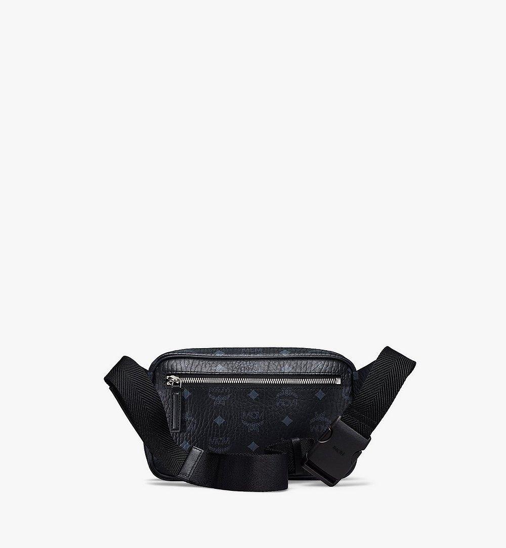 MCM Fursten Belt Bag in Visetos Black MMZBSFI03BK001 Alternate View 3