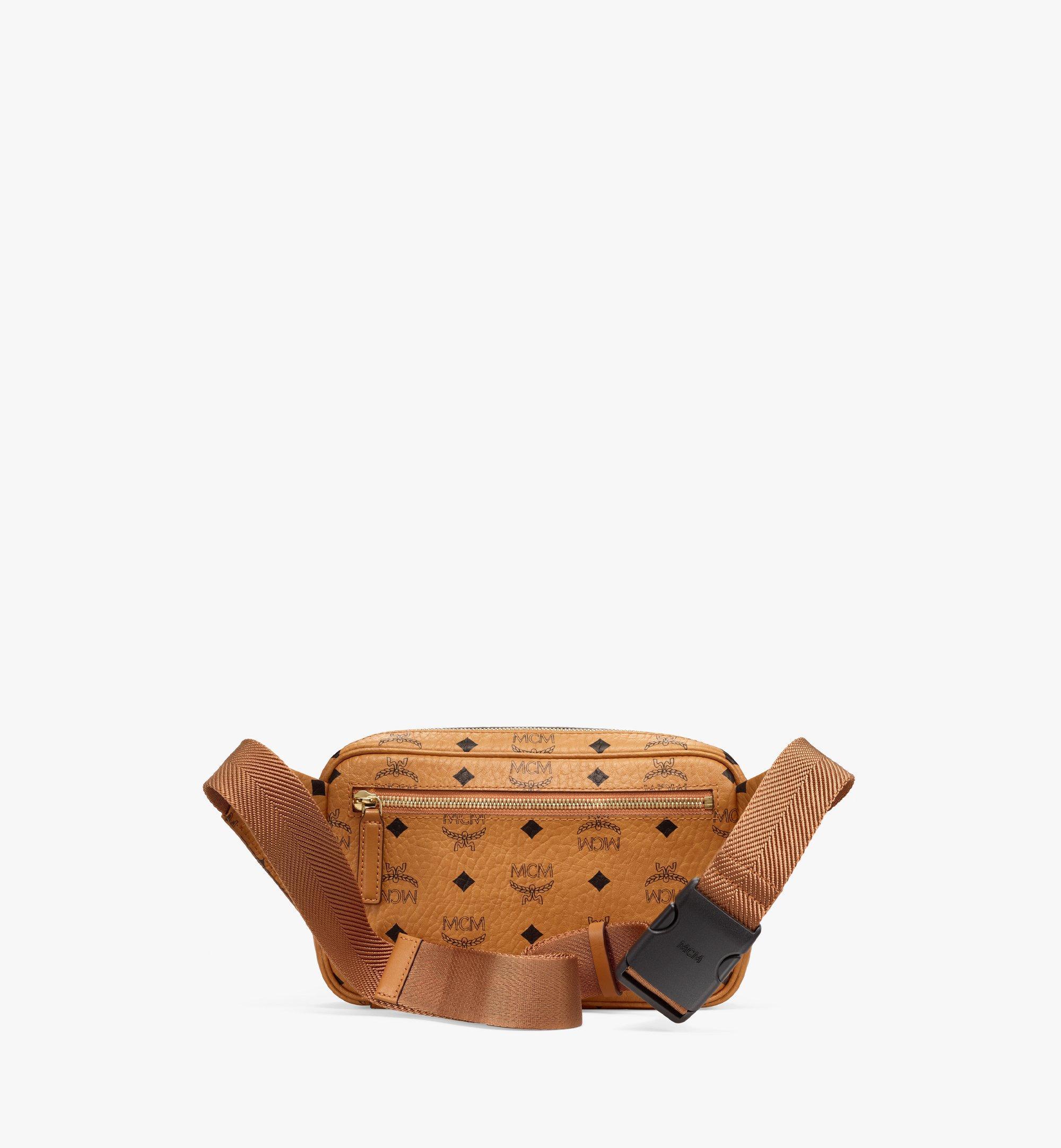 MCM Fursten Belt Bag in Visetos Cognac MMZBSFI03CO001 Alternate View 3