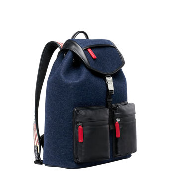 MCM Stadt Backpack in Loden MUK8ASD09VY001 AlternateView2