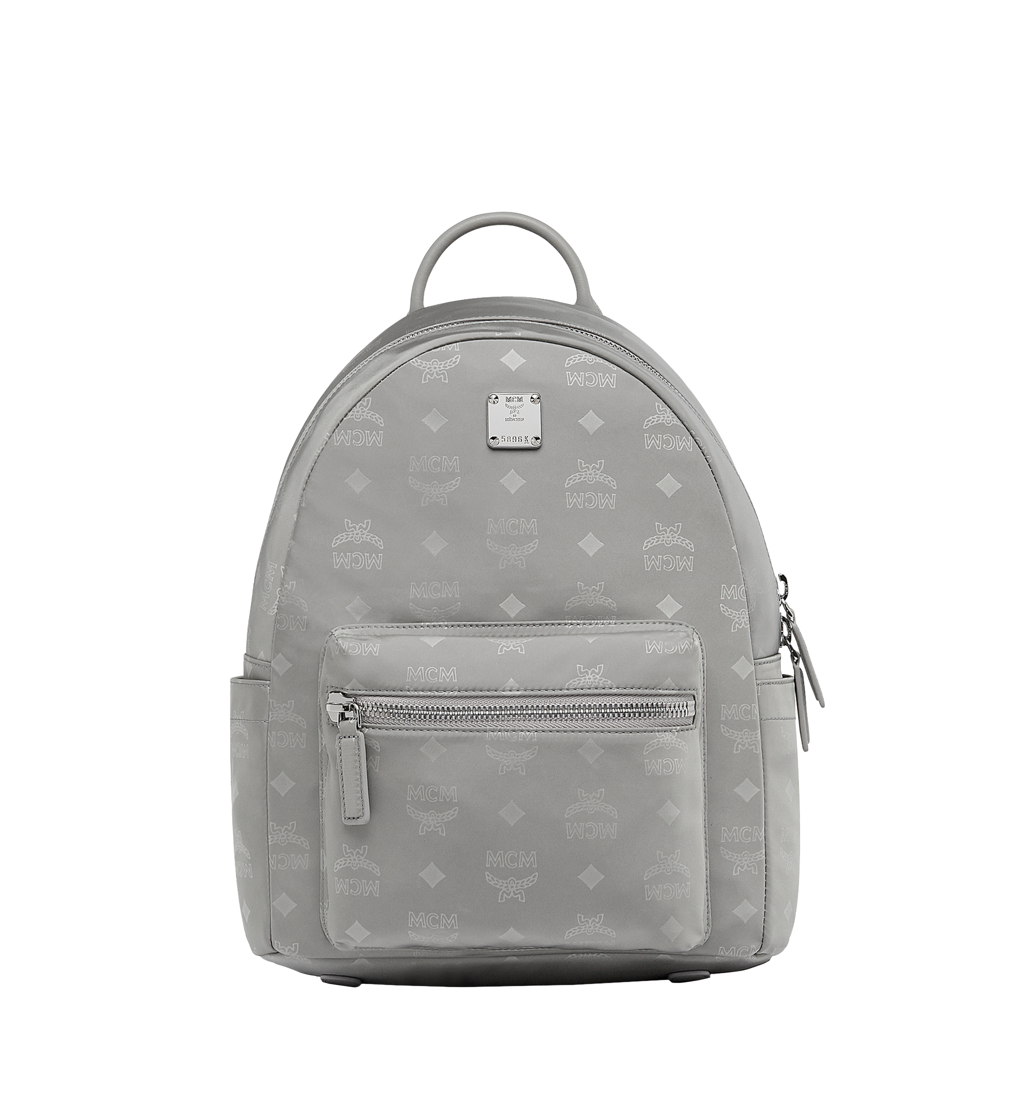 32 Cm 12 5 In Stark Classic Backpack In Monogram Nylon Grey Mcm Nl