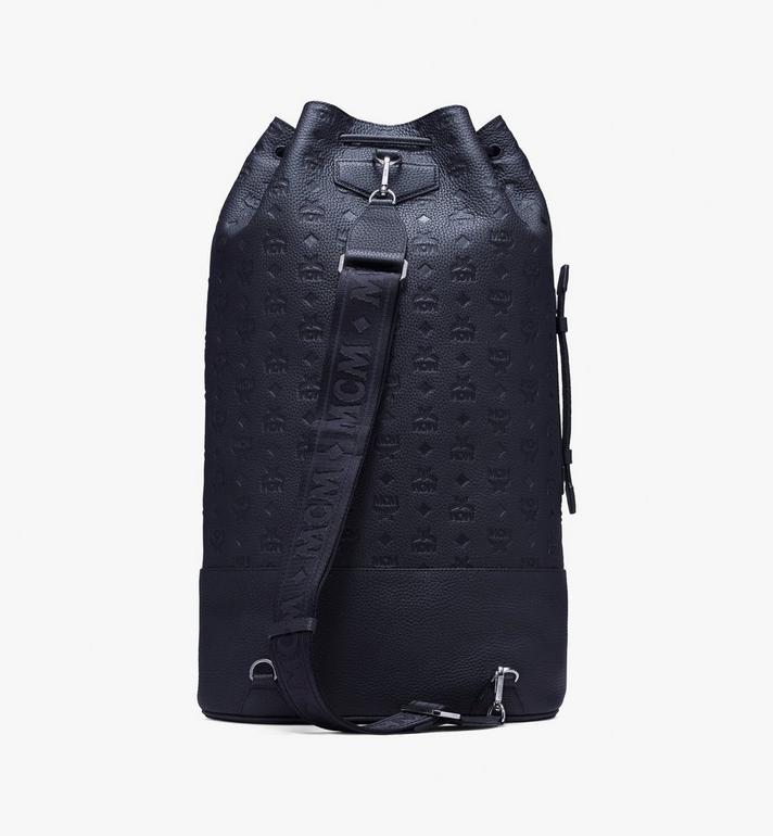 MCM Tivitat Drawstring Backpack in Monogram Leather Black MUK9ABT01BK001 Alternate View 3