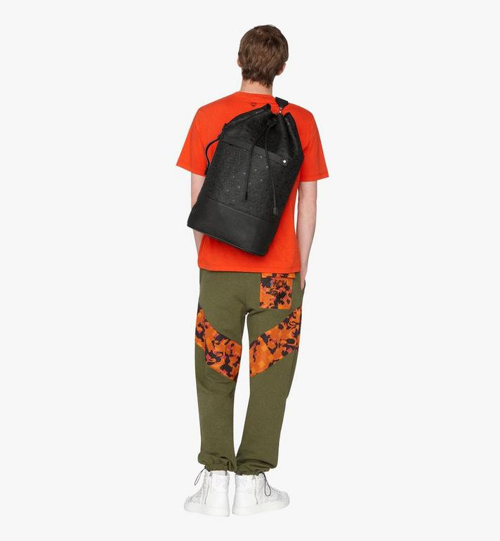 MCM Tivitat Drawstring Backpack in Monogram Leather Black MUK9ABT01BK001 Alternate View 5
